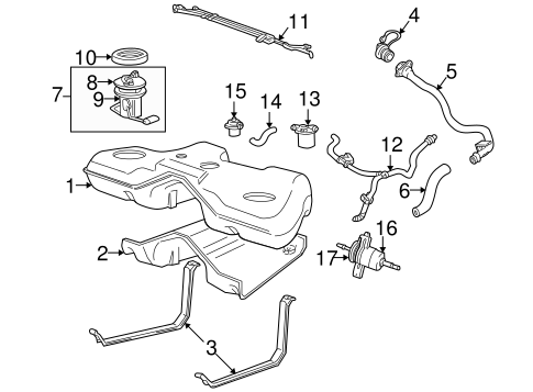 FUEL SYSTEM COMPONENTS for 2005 Ford Five Hundred