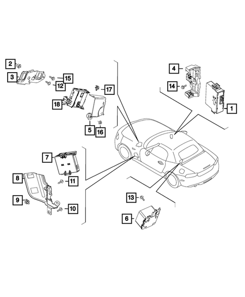 Keys, Modules and Engine Controllers for 2017 Fiat 124