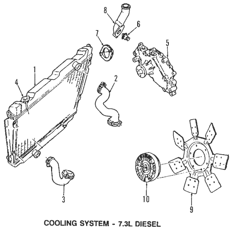 Cooling System for 1993 Ford E-350 Econoline Club Wagon