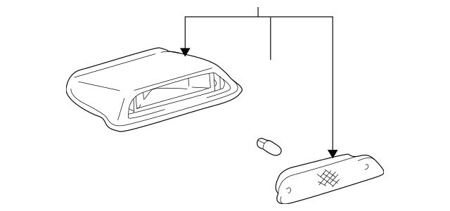 1996-2002 Toyota 4Runner High Mount Lamp 81570-35040