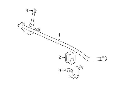 Stabilizer Bar & Components for 2001 Ford F-250 Super Duty