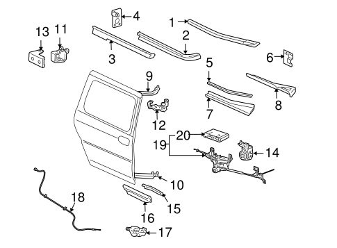 Tracks & Components for 2006 Pontiac Montana (SV6