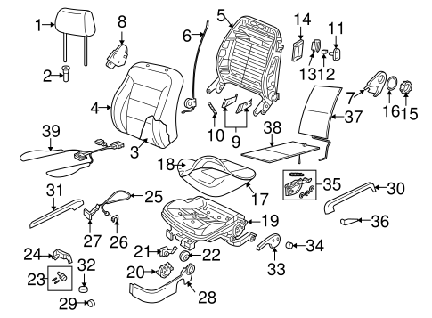 Front Seat Components for 2006 Volkswagen Beetle