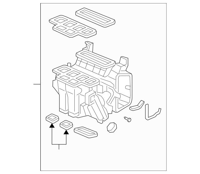 2009-2014 Honda RIDGELINE SEDAN Heater Sub-Assembly 79106