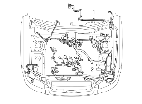 OEM 2011 Ford Escape Wiring Harness Parts