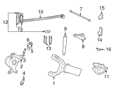 SUSPENSION COMPONENTS for 1999 Ford F-250 Super Duty