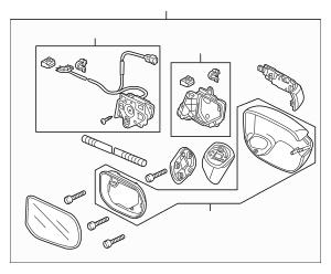 2006-2011 Honda CIVIC HYBRID SEDAN Mirror Assembly, L Door
