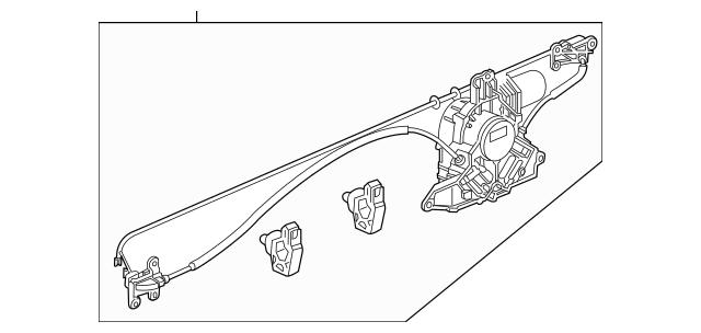 2011-2016 Honda ODYSSEY 5-DOOR Motor Assembly, Right(pass