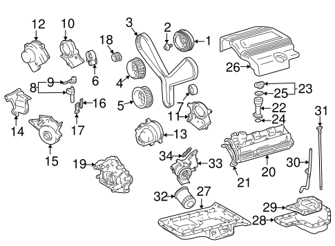 Genuine OEM Engine Parts Parts for 1999 Toyota Land