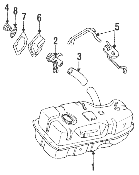 Fuel System Components for 1988 Mazda B2200