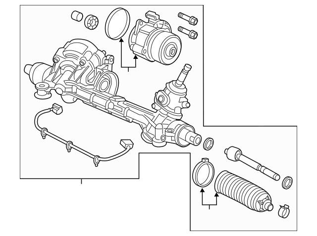 Honda Rack Assembly, Power Steering (Eps)(Service) 53620