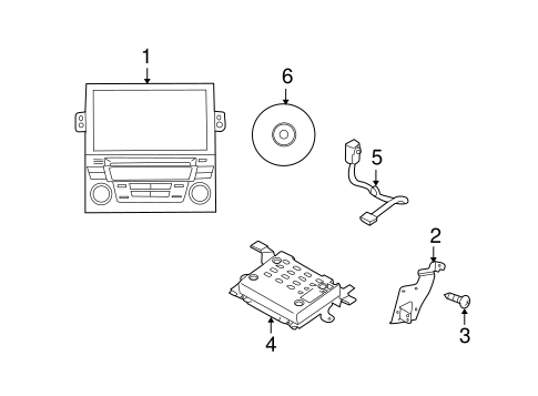 Navigation System Components for 2010 Subaru Legacy