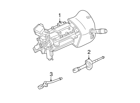 Steering Column Assembly for 2011 Lincoln Town Car