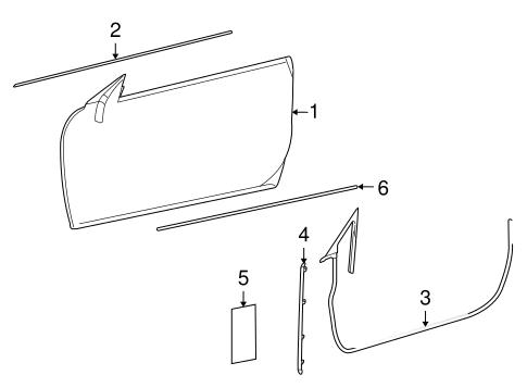 Door & Components for 2008 Mercedes-Benz CL 63 AMG