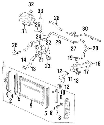 OEM Radiator & Components for 2001 Oldsmobile Aurora