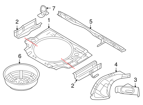 OEM REAR FLOOR & RAILS for 2008 Saturn Astra