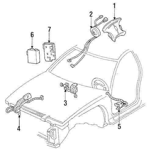 OEM 1994 Oldsmobile Cutlass Supreme Air Bag Components