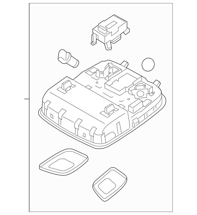 2014-2015 Kia Sorento Overhead Console 92800-1U500UP