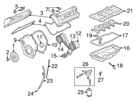 OEM 2003 Cadillac DeVille Engine Parts Parts