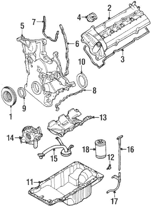 OEM 1999 Ford Taurus Engine Parts Parts