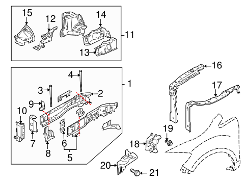 Structural Components & Rails for 2014 Mazda CX-9