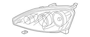 2005-2006 Acura RSX HATCHBACK Headlight Unit, L 33151-S6M