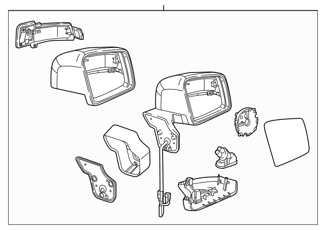 2016-2018 Mercedes-Benz Mirror Assembly 463-810-01-19-5359
