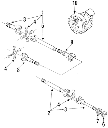 CARRIER & FRONT AXLES for 1995 Ford F-250