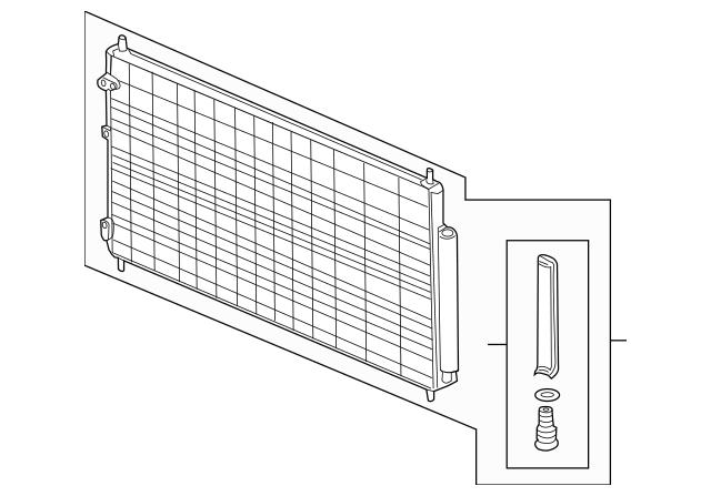 2014-2016 Honda ODYSSEY 5-DOOR Condenser Assembly (Denso