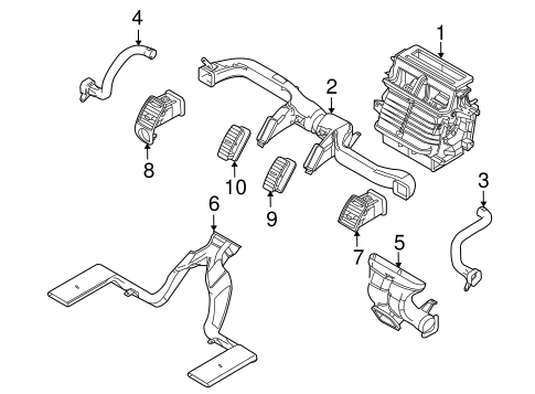 2006 Mitsubishi Endeavor Exhaust Diagram