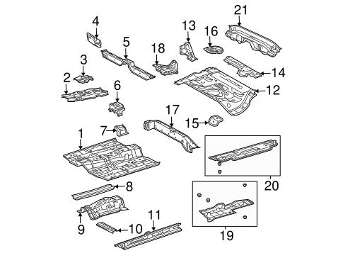 Genuine OEM Floor & Rails Parts for 2008 Toyota Prius