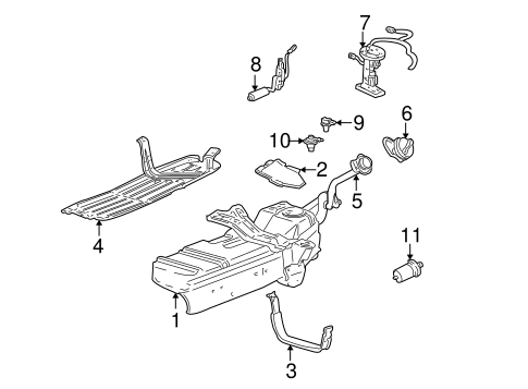 Fuel System Components for 2003 Ford Explorer