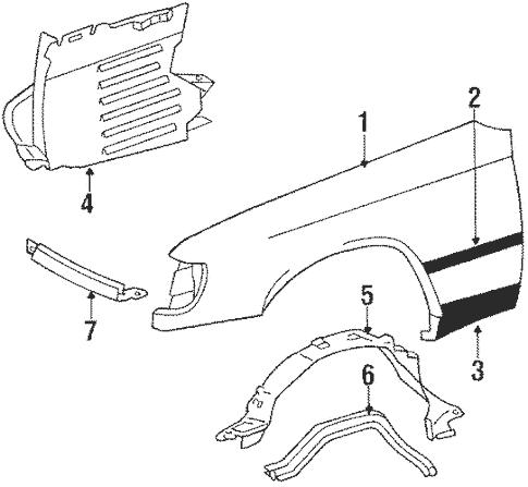Fender & Components for 1988 Mercedes-Benz 260 E