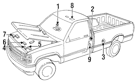 LABELS Parts for 1988 GMC C1500 Pickup