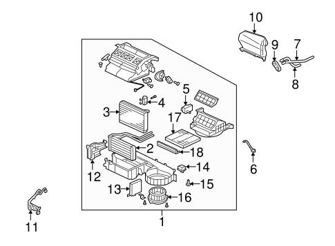 Evaporator & Heater Components for 2010 Mitsubishi