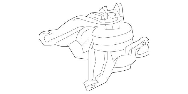 2008-2012 Honda Rubber Assembly, Transmission Mounting