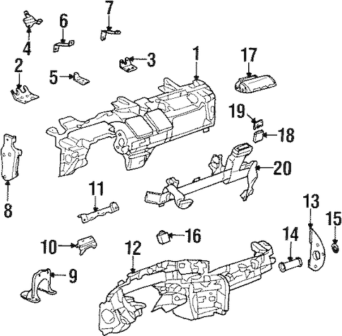 INSTRUMENT PANEL COMPONENTS for 2001 Oldsmobile Aurora (Base)