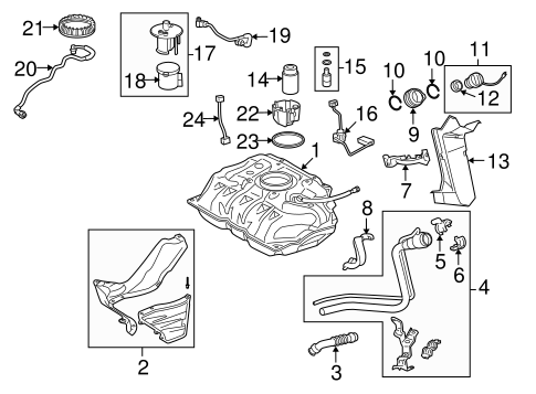 Genuine OEM Fuel System Components Parts for 2007 Toyota