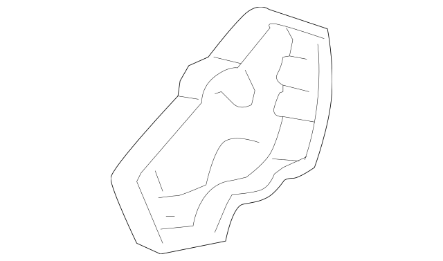 Genuine OEM Cover, L Front Seat Center *NH167L* (Graphite