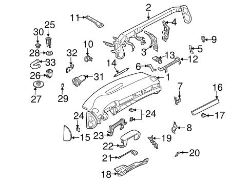 Instrument Panel Components for 1998 Audi A6 Quattro