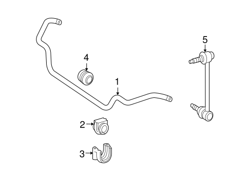 Stabilizer Bar & Components for 2004 Mercedes-Benz CLK 55