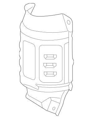 2008-2015 Honda Cover, Primary Converter 18121-R40-A00