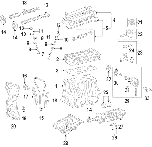Genuine OEM Engine Parts For 2013 Mazda 3 i