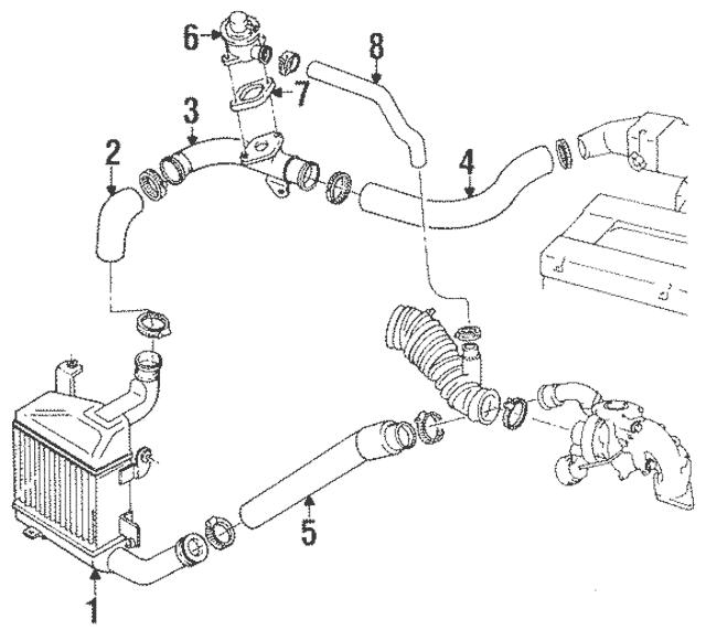Genuine OEM Air Hose Part# MD157357 Fits 1991-1994