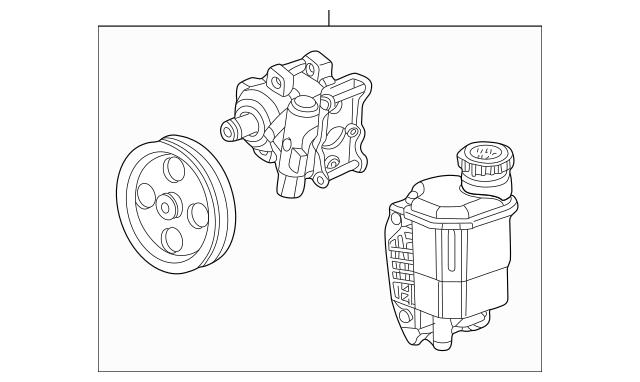 Power Steering Pump for 2004 Dodge Ram 1500|55398769AB