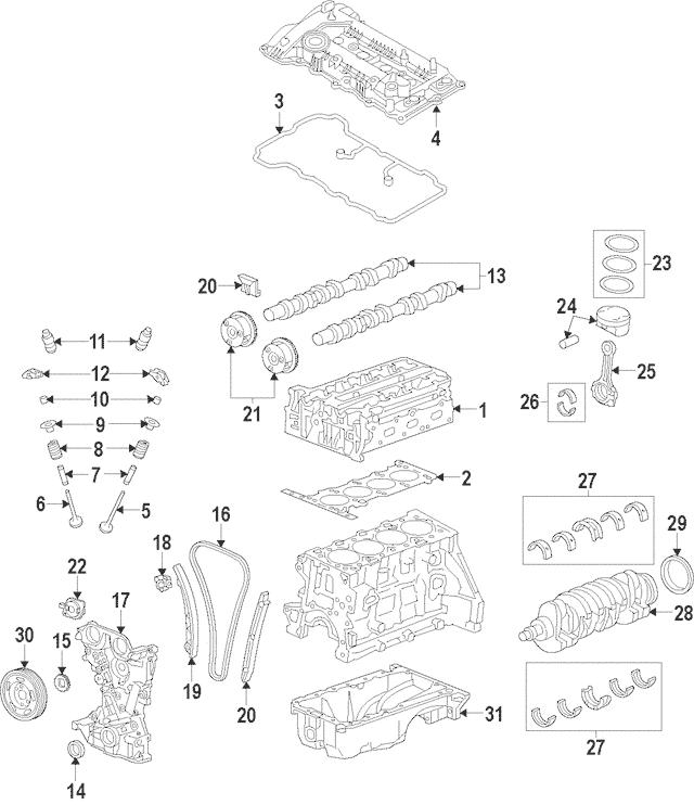 2014-2019 Hyundai Valve Cover Gasket 22441-2E210