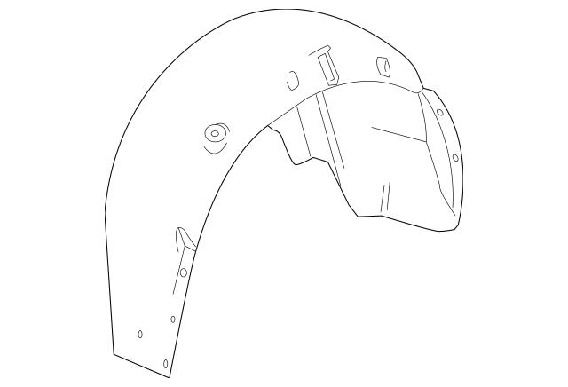 2011-2015 Cadillac CTS Quarter Panel Splash Shield