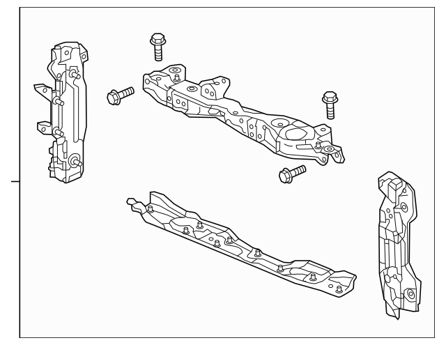 2015-2017 Honda FIT 5-DOOR Bulkhead, Front 60400-T5R-A00ZZ