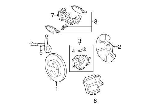 Rear Brakes Parts for 2011 Chevrolet Malibu