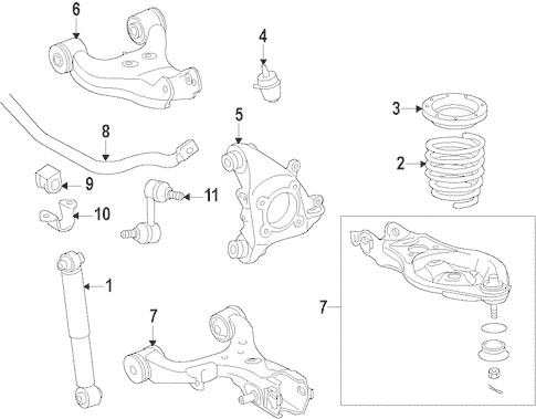 Genuine OEM Rear Suspension Parts for 2008 Toyota Sequoia